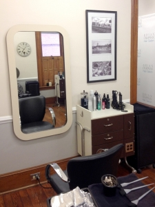 Brian Chapman Hair Salon Front Room - each styling area is equipped with anything you and your stylist will need