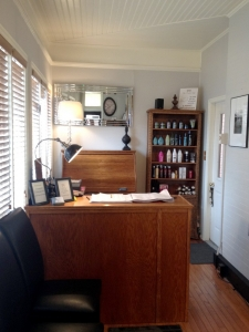 Brian Chapman Hair Salon Reception Area - check-in and check-out for your appointment and shop our high-quality products!