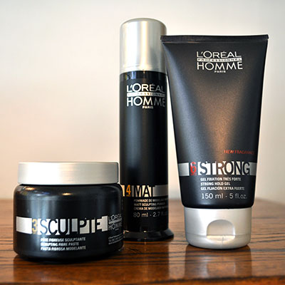 L'Oreal Professionel Homme Styling Products: Sculpte, Mat & Strong