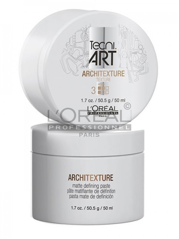 The Techni.Art styling product known as Architexture is a matte paste that provides texture, hold, structure, and definition.