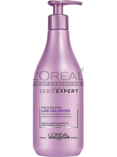 Serie Expert Liss Shampoo enriched with pro keratin smoothes frizzy hair and protects against humidity!