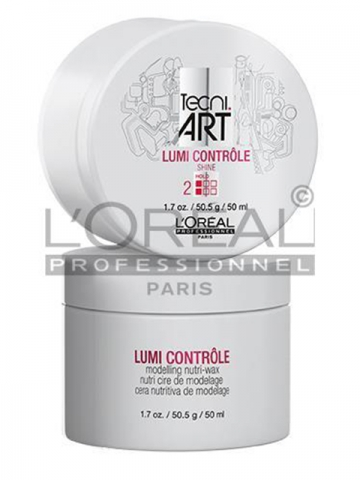 The Techni.Art styling product known as Lumi Contrôle allows for a flexible hold by providing nourishment, shine, control, and defintion.