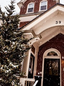 There's nothing quite like Doylestown in the winter. Here's a great shot of our historic building in this season's snow storm.
