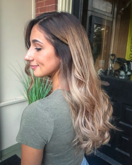 Brunette to Ash Blonde Balayage