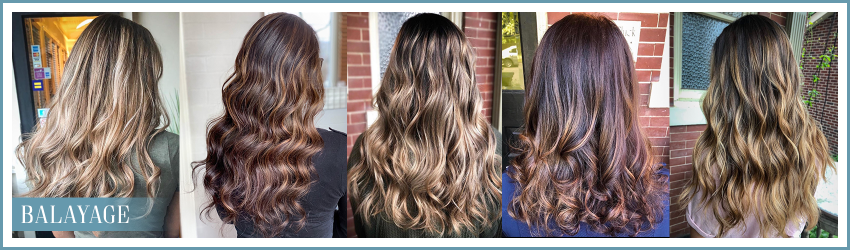 Full and partial balayage and foilayage services