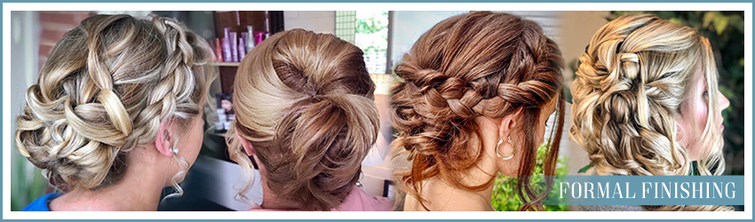Formal finishing hair styling for special occasions